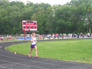 Running the 3200m at my county meet in 2007.